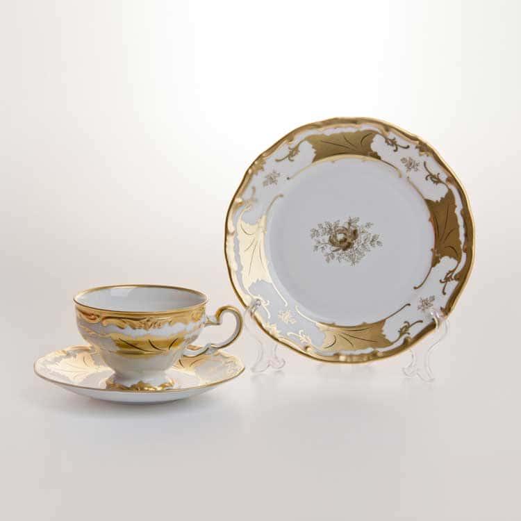 Кленовый лист белый Набор для чая Weimar на 6 перс. 18 пред. подарочный
