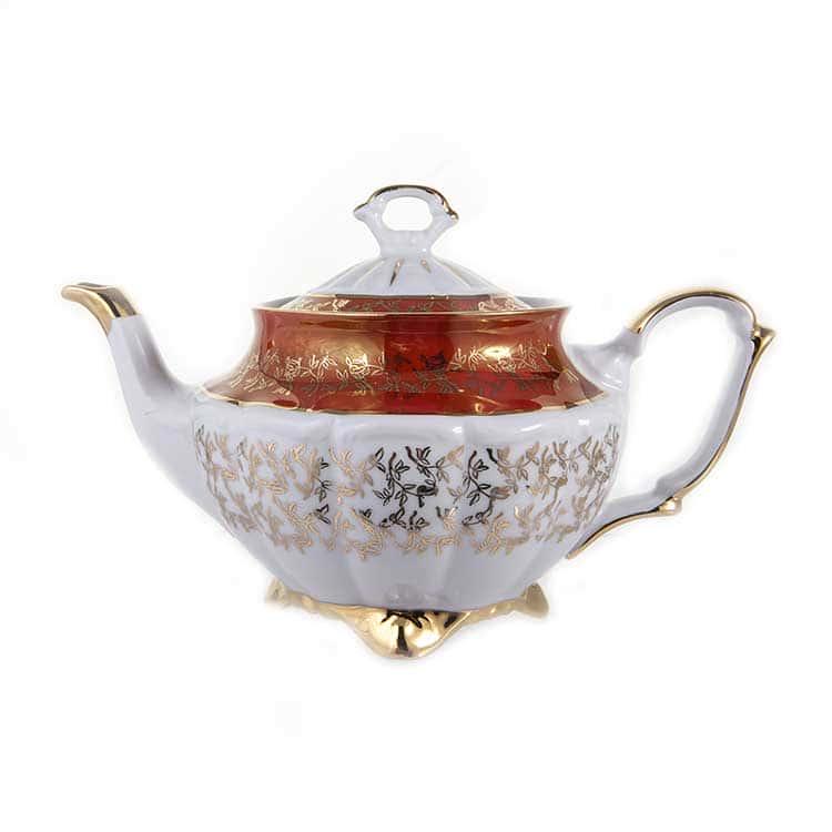 Лист красный Чайник Bavarian Porcelain