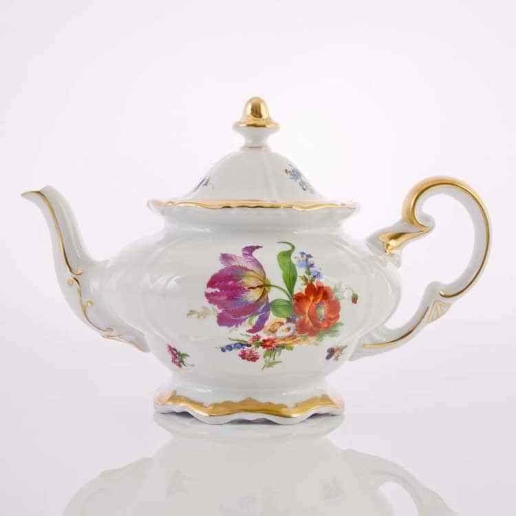 Мейсенский букет Чайник заварочный Weimar porzellan 1,2 л