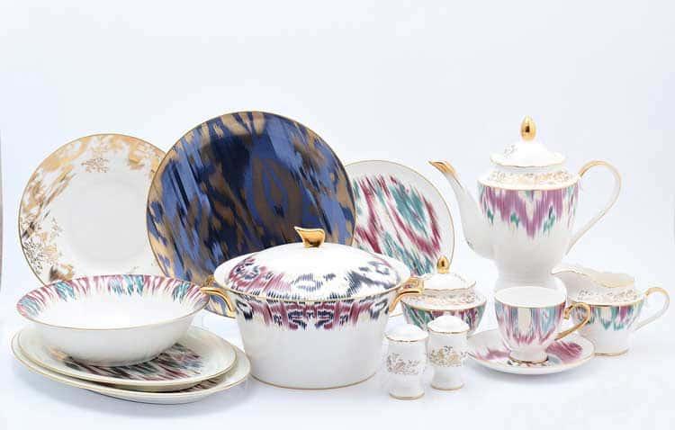 Столово-чайный сервиз на 6 персон 42 предмета синий