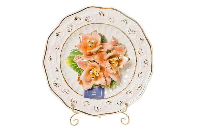 Цветы (камни Сваровски) Тарелка декоративная Devis