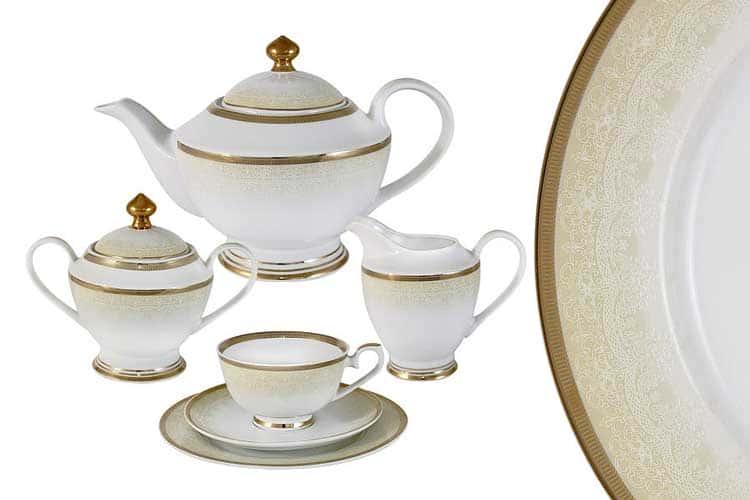 Вуаль кремовая Чайный сервиз Midori 23 предмета на 6 персон