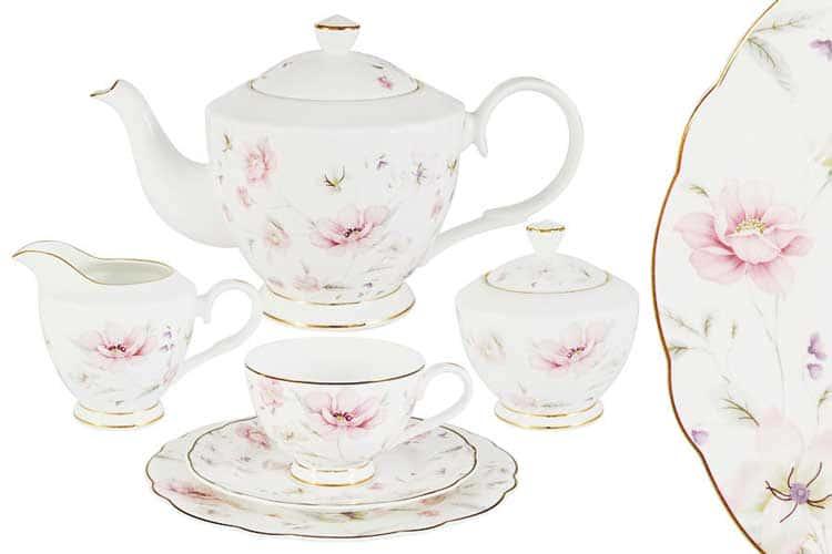 Розовый танец Чайный сервиз 21 предмет на 6 персон Emily