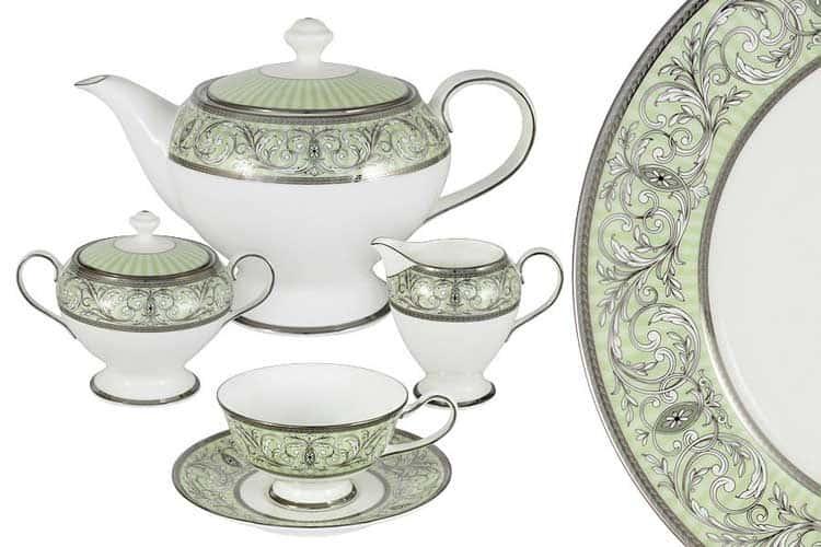 Блеск Чайный сервиз Narumi 17 предметов на 6 персон