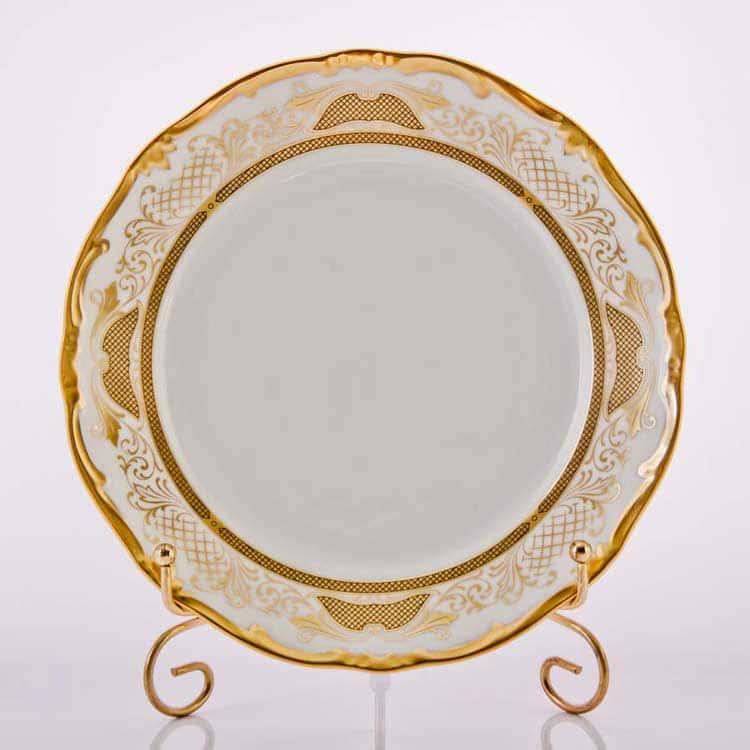 Симфония Золотая Набор тарелок Weimar Porzellan 22 см