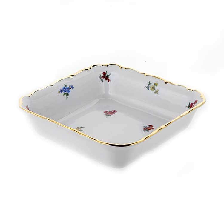 Блумен Салатник квадратный 16 см Bavarian Porcelain