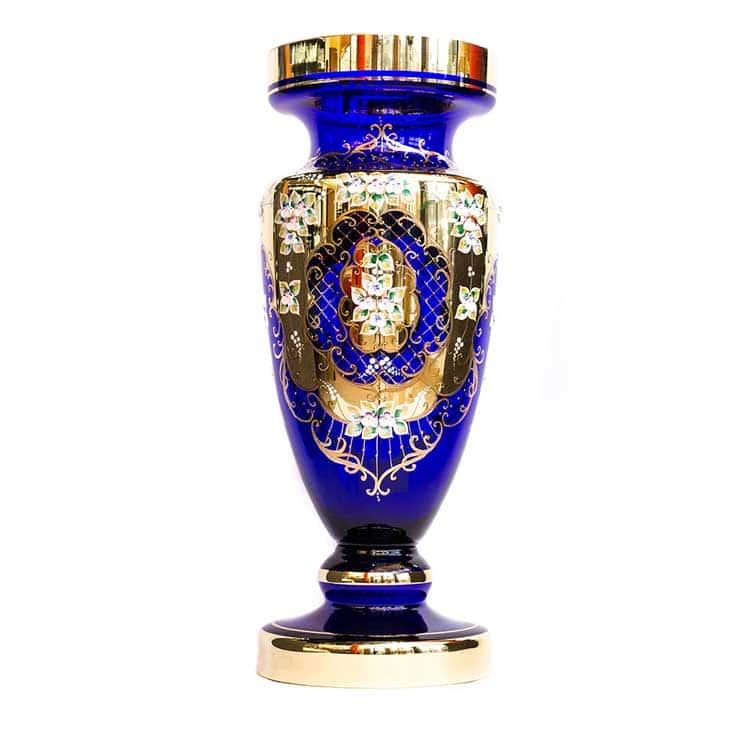 Лепка синяя 8149 Ваза для цветов U. Glass 70 см