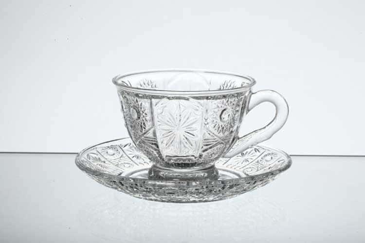 Набор чайных пар Royal Classics (6 шт) из стекла