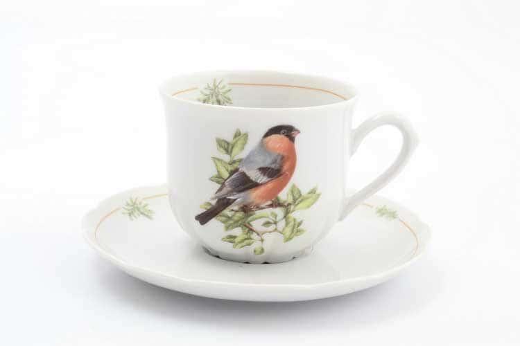 Птицы Снегирь Набор чайных пар 220 мл (6 пар)