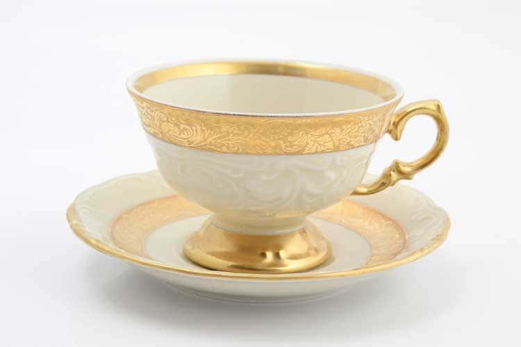 Матовая лента Слоновая кость Набор чайных пар Sterne porcelan 220 мл (6 пар)