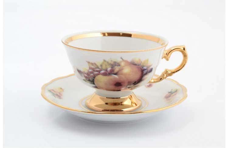 Фрукты Набор чайных пар Sterne porcelan 220 мл (6 пар)