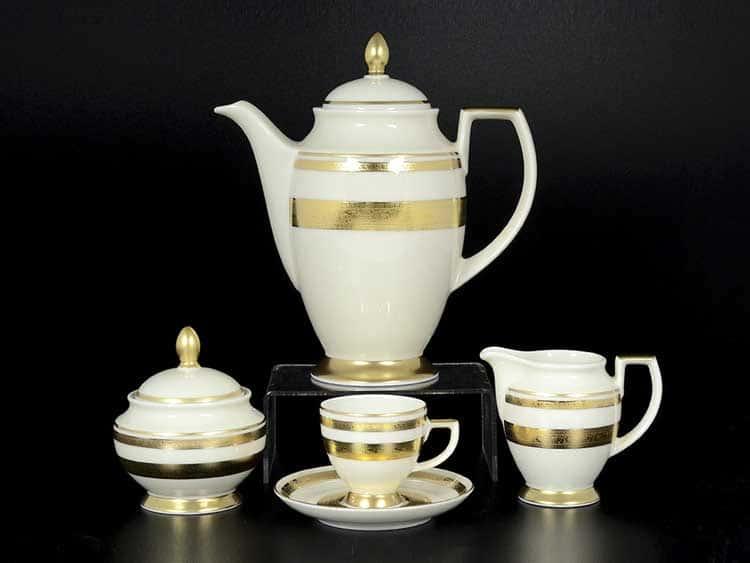 Constanza - Crem Gold 9321 Кофейный сервиз Falken на 6 персон 17 предметов