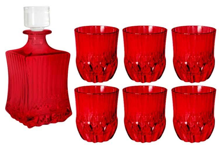 Адажио - красная Same Набор для виски: штоф + 6 стаканов