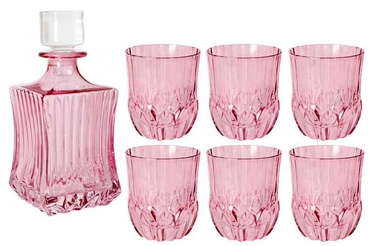 Адажио - розовая Same Набор для виски: штоф + 6 стаканов