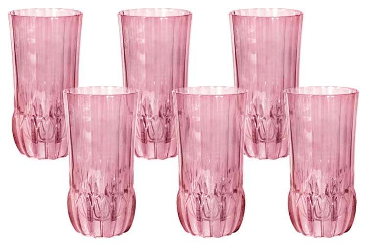 Адажио - розовая Same Набор 6 стаканов для воды
