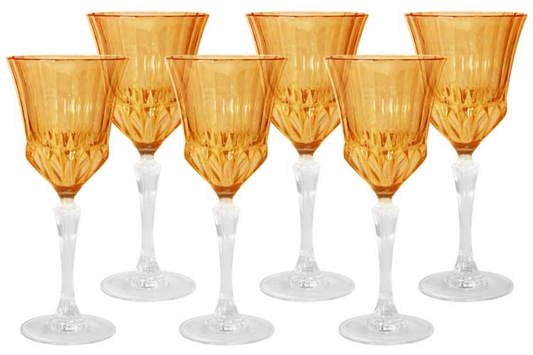 Адажио - янтарная Same Набор 6 бокалов для вина