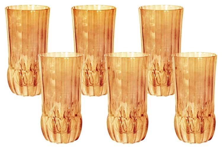 Адажио - янтарная Same Набор 6 стаканов для воды