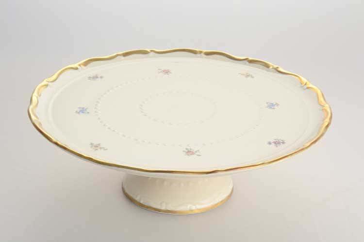Тарелка для торта на ножке Мария Луиза Слоновая кость Carlsbad 32 см
