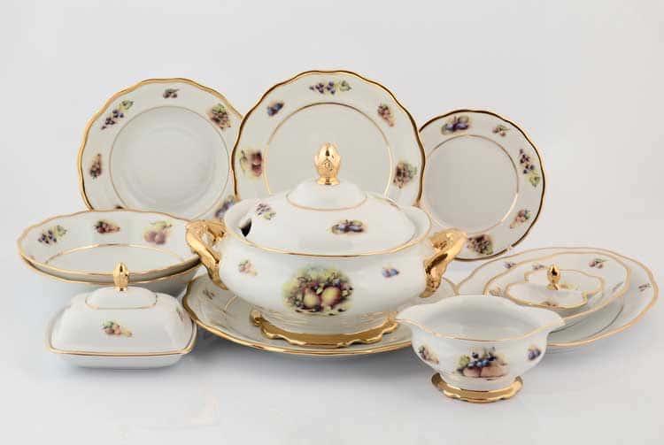 Фрукты Столовый сервиз Sterne porcelan на 6 персон 27 предметов