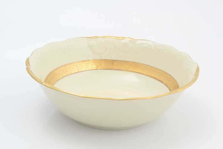Матовая лента Слоновая кость Набор салатников Sterne porcelan 19 см (6 шт)