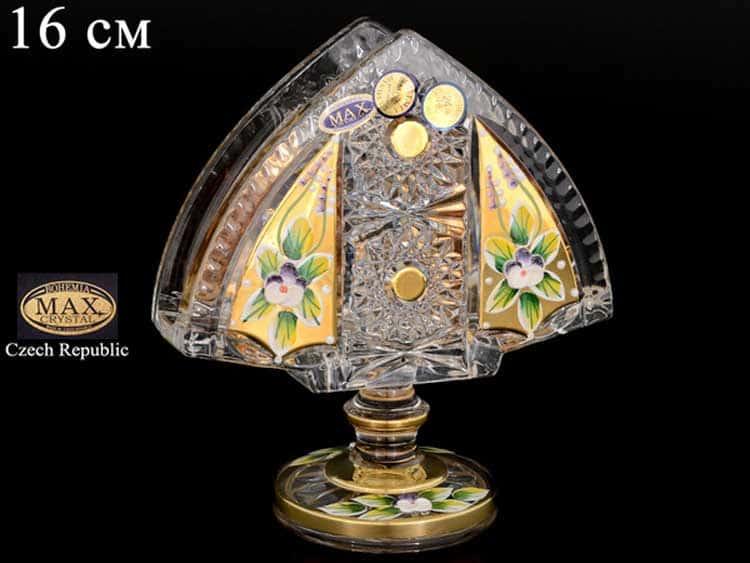 Салфетник Max Crystal Золото 14 см на ножке