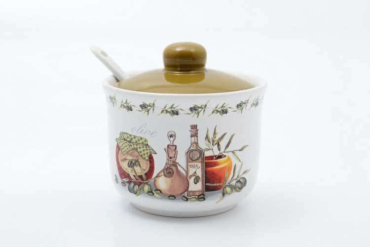 Сахарница с ложкой Olive Royal Classic 250 мл 11,2х11,2х10,3 см