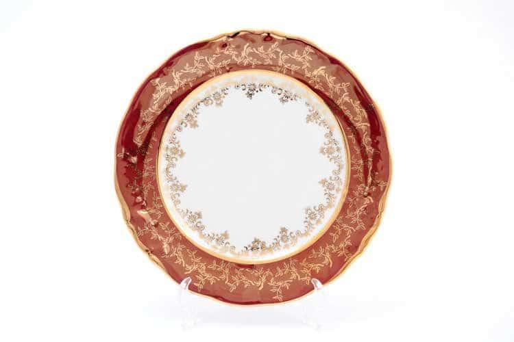 Набор тарелок Красный лист Sterne porcelan 21 см (6 шт)