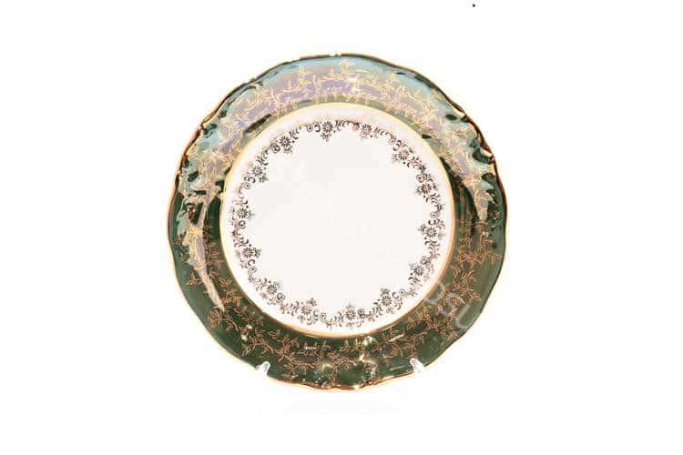 Набор тарелок Зеленый лист Sterne porcelan 21 см