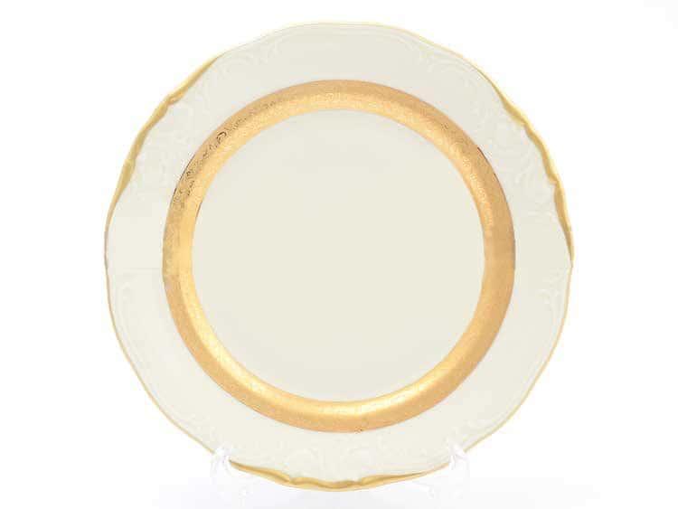 Набор тарелок Матовая лента Слоновая кость Sterne porcelan 21 см (6 шт)