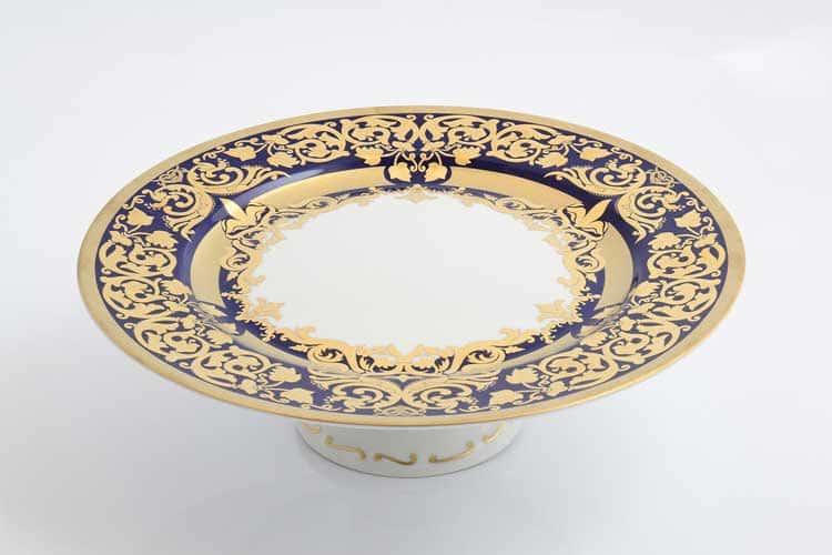 Тарелка для торта Natalia cobalt gold Falken 32 см на ножке