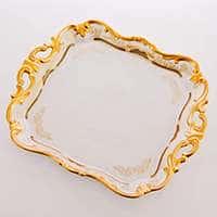 Симфония Золотая Блюдо квадратное 30 см Weimar Porzellan