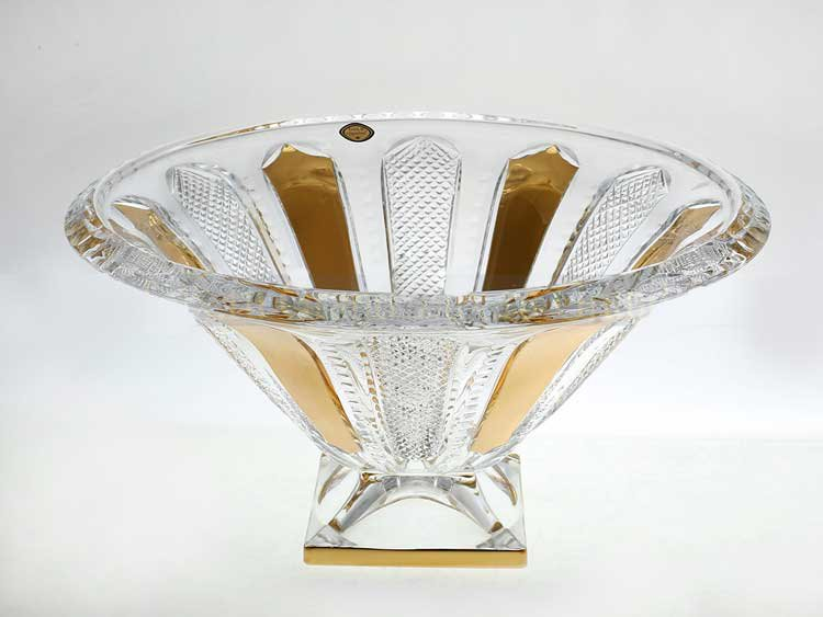 Панел Фруктовница на ножке Bohemia Gold 37,5 см 1шт