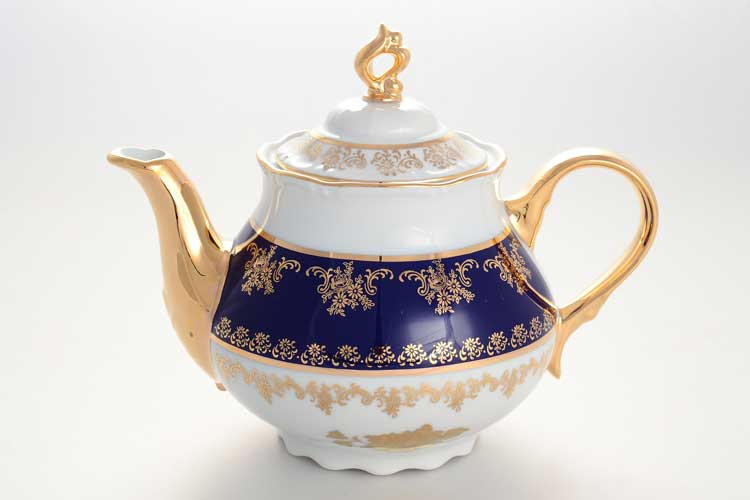 Чайник Констанция Золотая роза Кобальт Thun 1,2 л