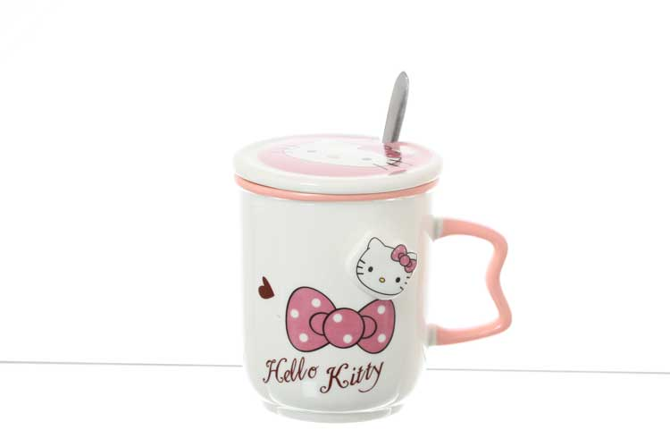Hello Kitty Кружка Royal Classics 400 мл широкая с ложкой