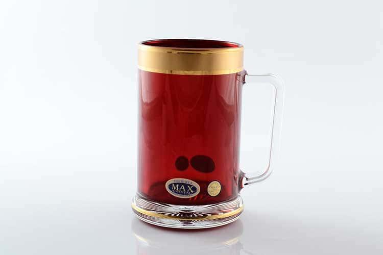 Star Crystal красная Кружка для чая 500 мл Bohemia Max