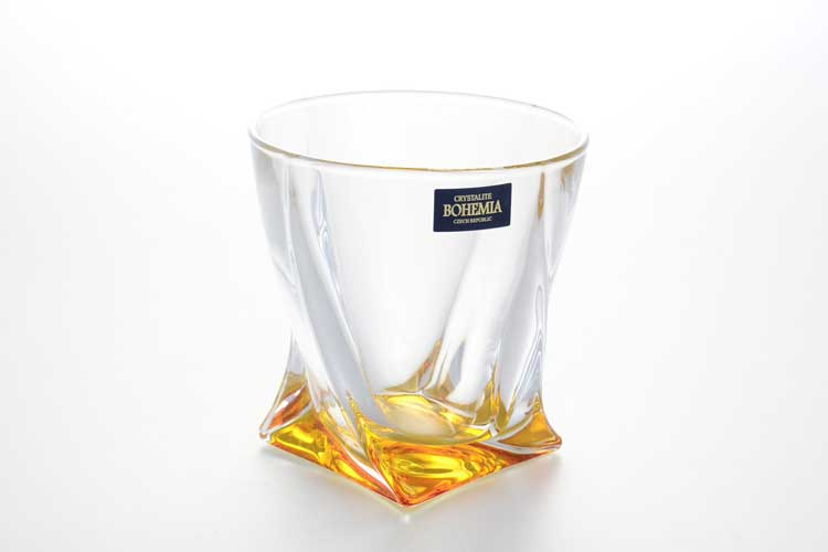 Набор стаканов Quadro желтый BOHEMIA 340 мл 6 шт