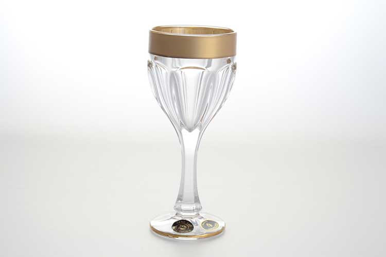Сафари матовая Набор бокалов для вина 190 мл BOHEMIA GOLD