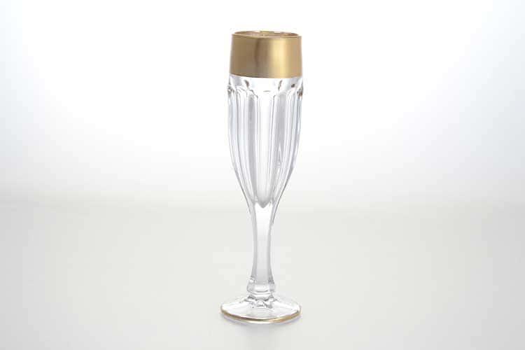 Сафари матовая Набор фужеров для шампанского 150 мл BOHEMIA GOLD
