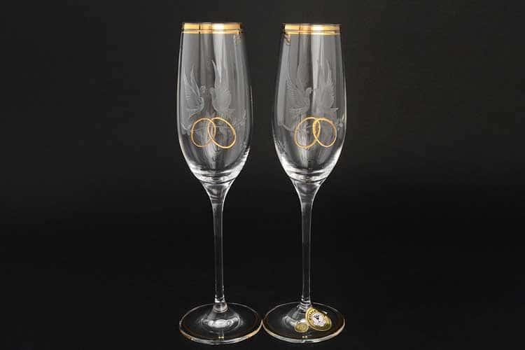 Набор для шампанского Свадебный E-V из 2 фужеров