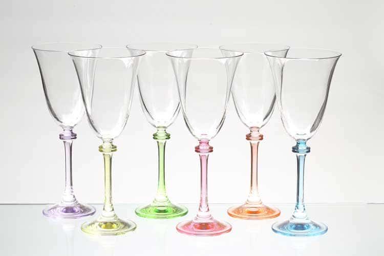 Набор бокалов для вина Арлекино Bohemia Gold 250 мл (6 шт)
