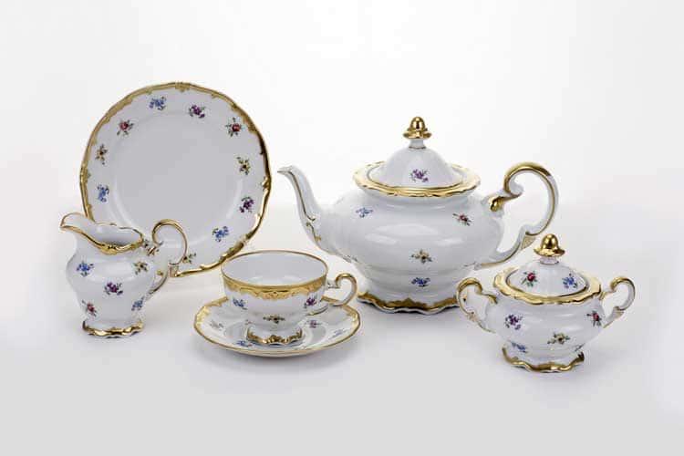 Сервиз чайный Мейсенский цветок Weimar на 6 персон 21 предмет