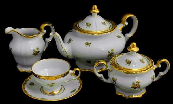 Сервиз чайный Роза золотая Weimar на 6 персон 21 предмет