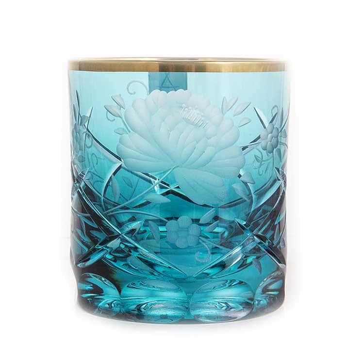 Набор стаканов Арнштадт Роза голубая 250 мл.6 шт.