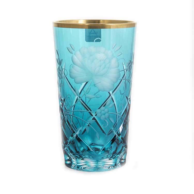 Набор стаканов Арнштадт Роза голубая 320 мл.6 шт.