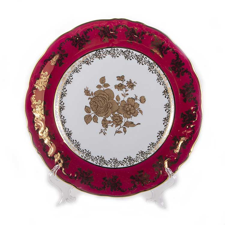 Набор тарелок Роза Красная Carlsbad 24 см.6 шт.