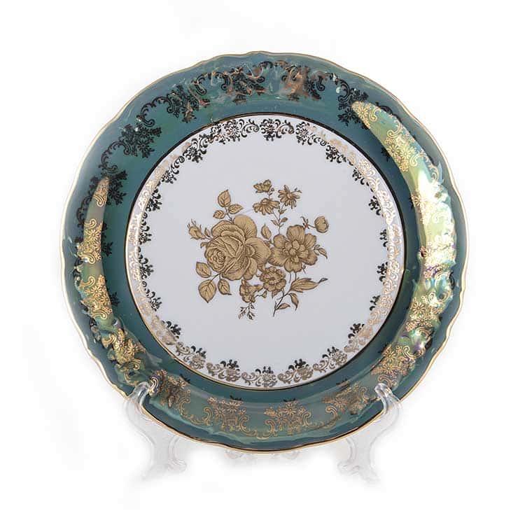 Набор тарелок Роза Зеленая Carlsbad 24 см.6 шт.