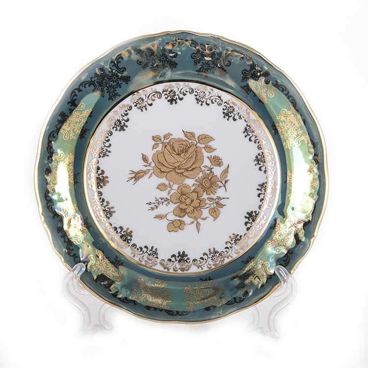 Набор тарелок Роза Зеленая Carlsbad 19 см.6 шт.