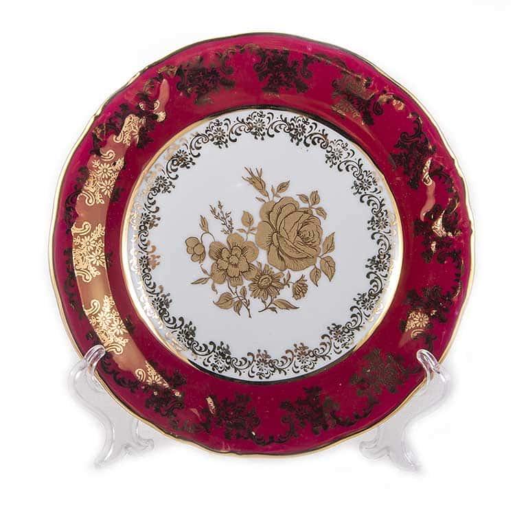 Набор тарелок Роза Красная Carlsbad 19 см.6 шт.