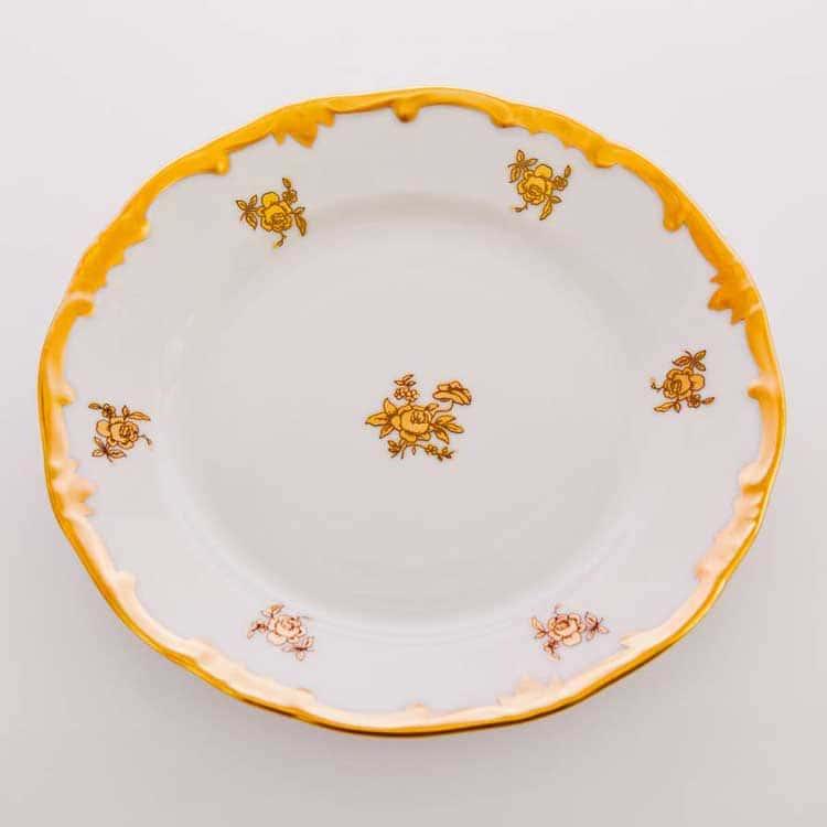 Роза золотая Набор тарелок Weimar Porzellan 15 см