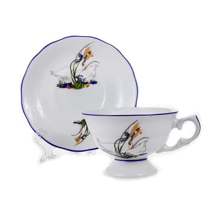 Набор для чая Гуси Эпиаг 200 мл. на 6 перс.12 пред.